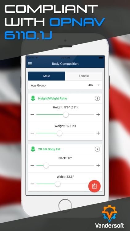 Navy PRT Calculator - US Navy PFA Calculator & BCA