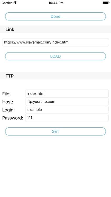 FTP uploader and downloader