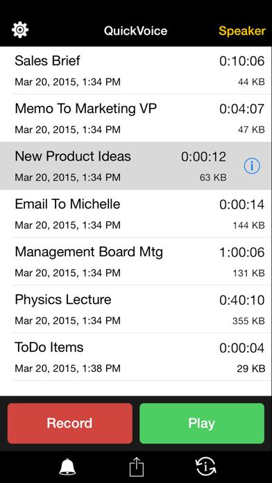 QuickVoice® Recorder ScreenShot0