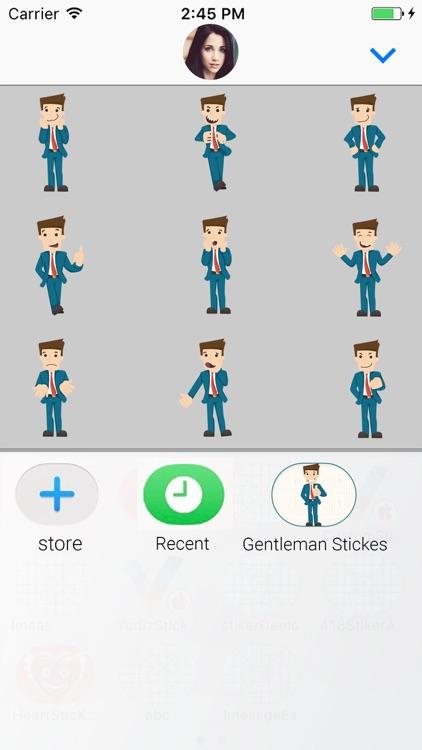 Gentleman : Animated Stickers screenshot-3