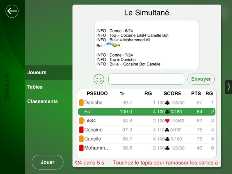 Jeu de Belote SHUA for iPad screenshot-3