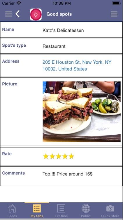 myTabs - database screenshot-3