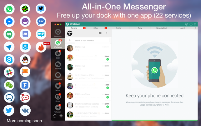 ‎One Chat All-in-One Messenger Screenshot