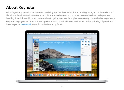 Keynote for Mac Starter Starter Guide macOS High Sierra by