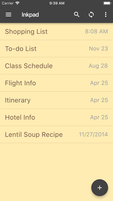 InkPad Notepad - Notes - To do Screenshot