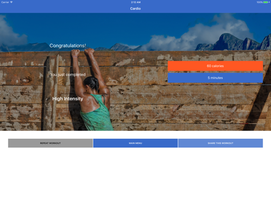 Cardio & HIIT Workout - Fitify screenshot