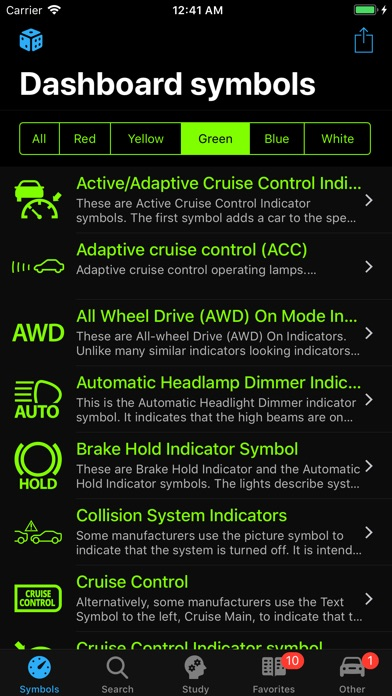 Car Dashboard Symbols Screenshots