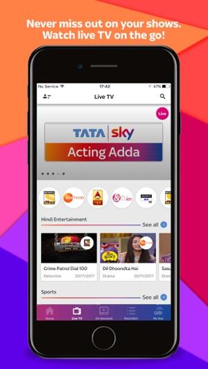 tata sky live tv recharge on the app store. Black Bedroom Furniture Sets. Home Design Ideas
