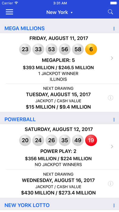 download Lotto Results + Lottery in US apps 1