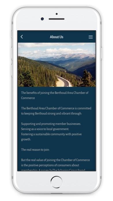 Berthoud Chamber of Commerce Screenshot