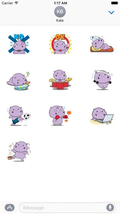 Chubby Hippopotamus Sticker screenshot 3