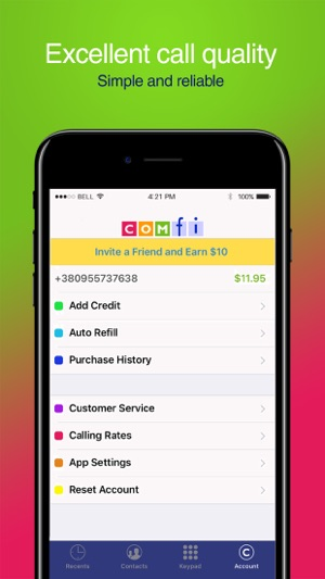 Comfi Cheap International Call on the App Store