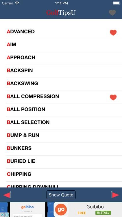 Golf Tips. screenshot-4