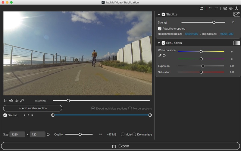 liquivid Video Stabilization Screenshots