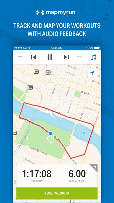 Map My Run by Under Armour app image