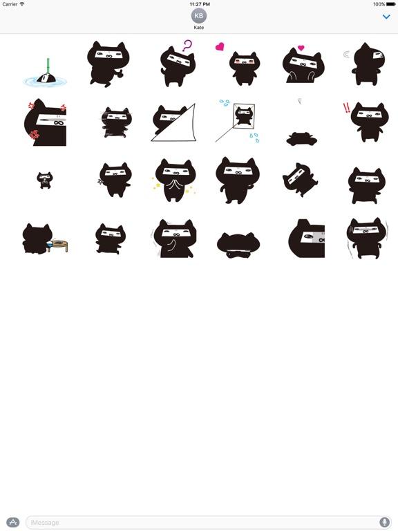 Animated Ninja Cat Sticker screenshot 3