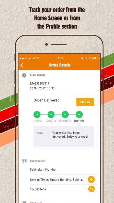 Screenshot for Burger King India Order Online in Venezuela App Store