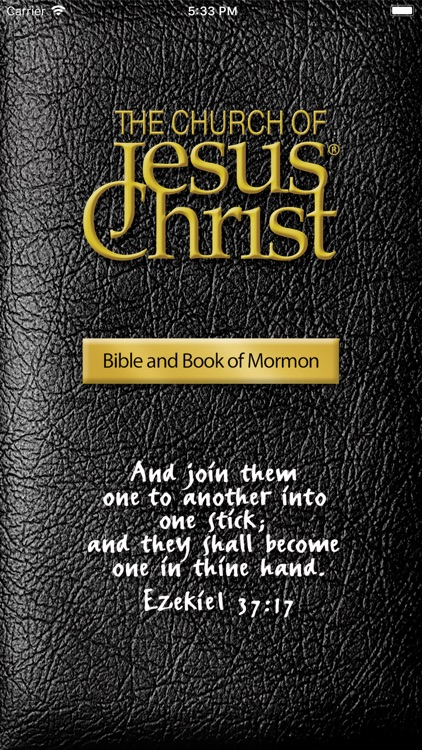 The Bible and Book of Mormon