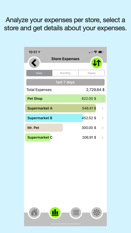 Expenses - in what spend money screenshot-2