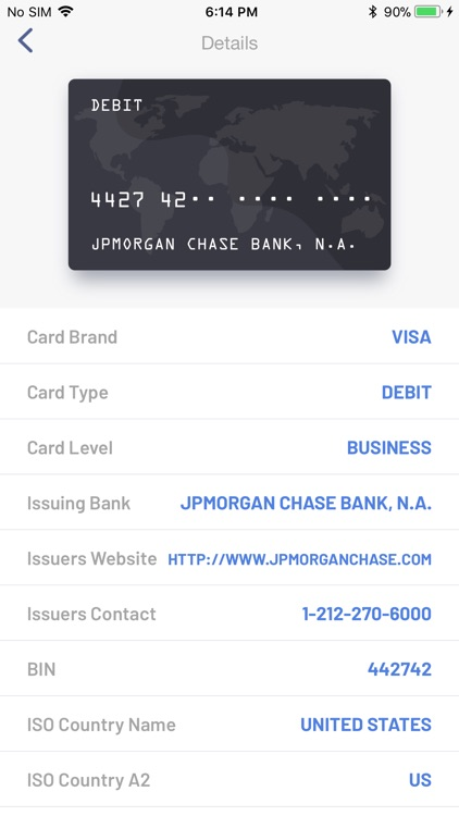 BIN Check: Credit Card Checker screenshot-1