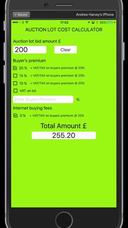 UK Auction Fee Calculator
