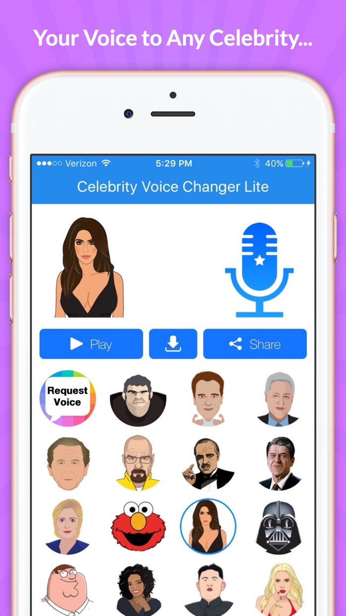 Celebrity Voice Changer -Spoof Screenshot
