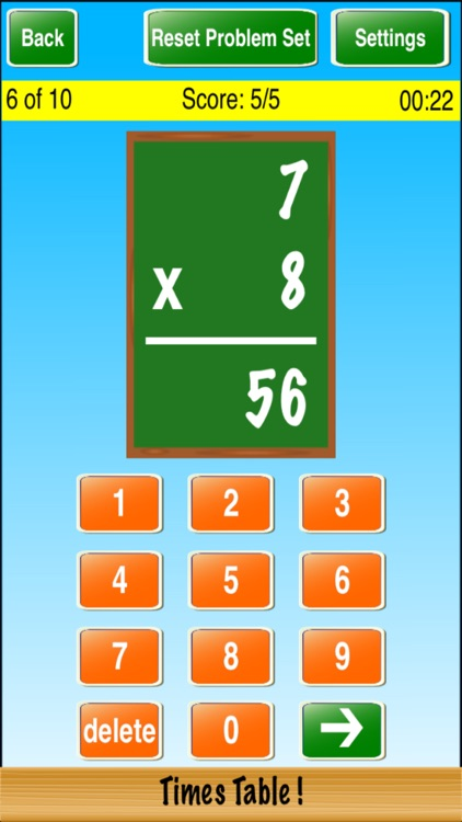Times Table ! screenshot-2