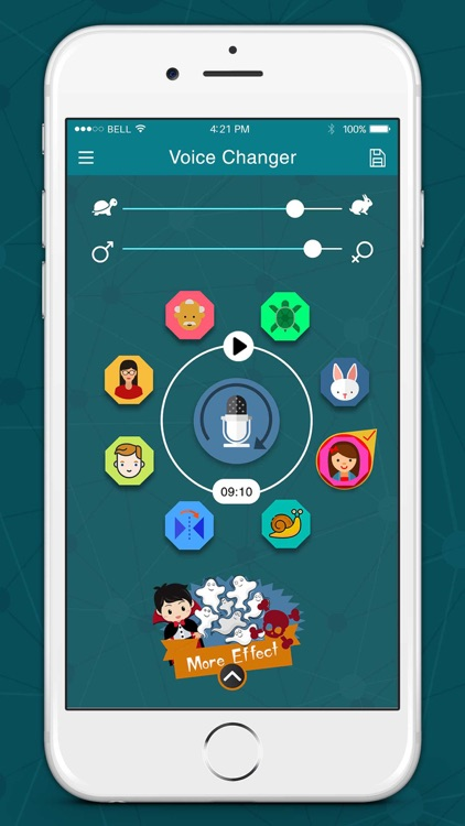 Voice Changer with Funny Sound Effects Recorder