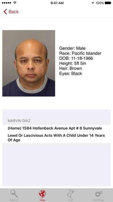 Sex Offenders Search review screenshots