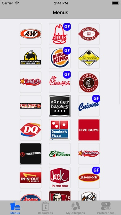 Icaneat Fast Food Gluten Free review screenshots