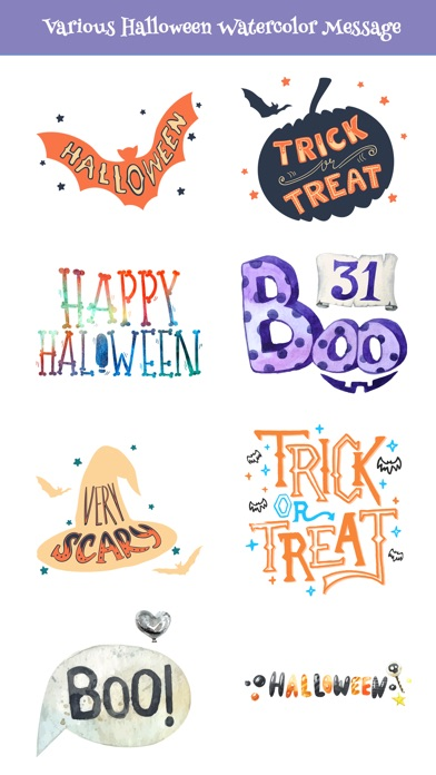 Nice Watercolor Halloween Pack screenshot 4