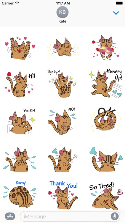 Lovely Bengal Cat Sticker