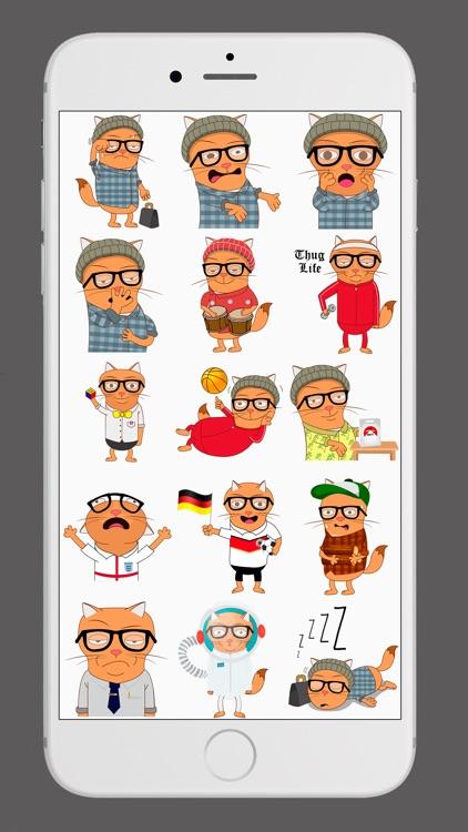 Hipsty Puma Cat Stickers screenshot-4