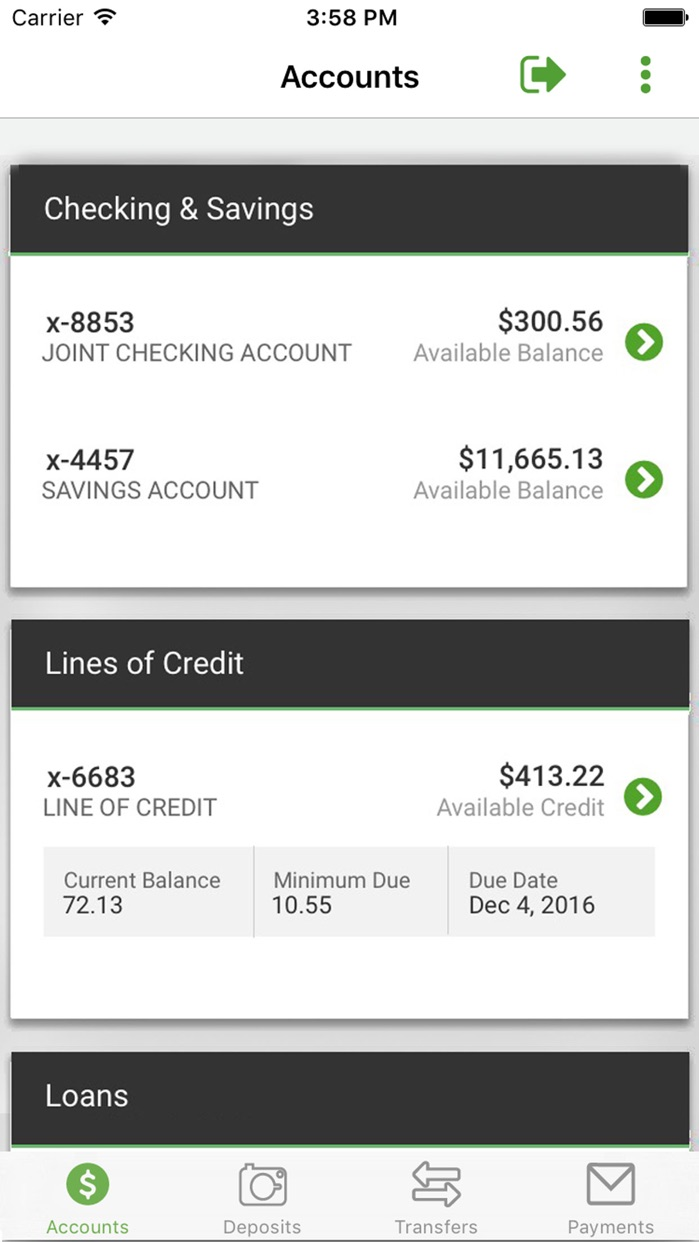 Woodforest Mobile Banking Screenshot