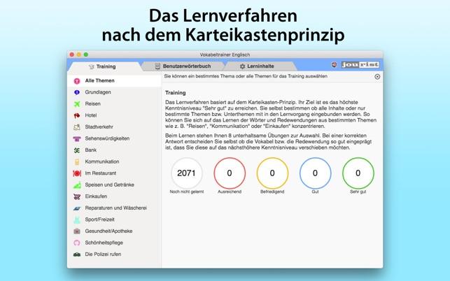 Vokabeltrainer Englisch im Mac App Store