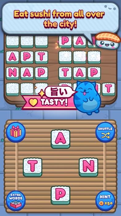 Sushi Cat Words screenshot 2