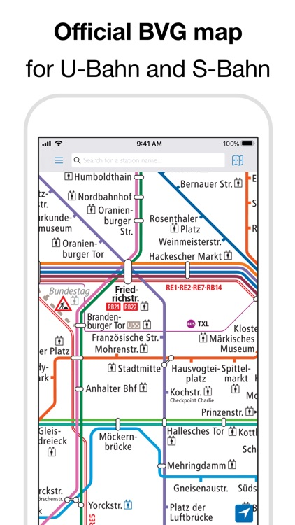 Berlin Subway: BVG U-Bahn map screenshot-0