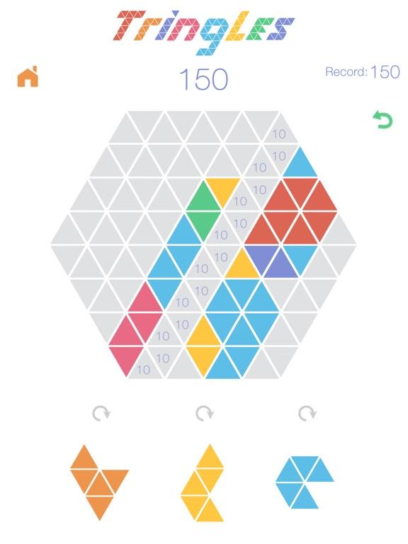 Треугольнички Tringles на iPad