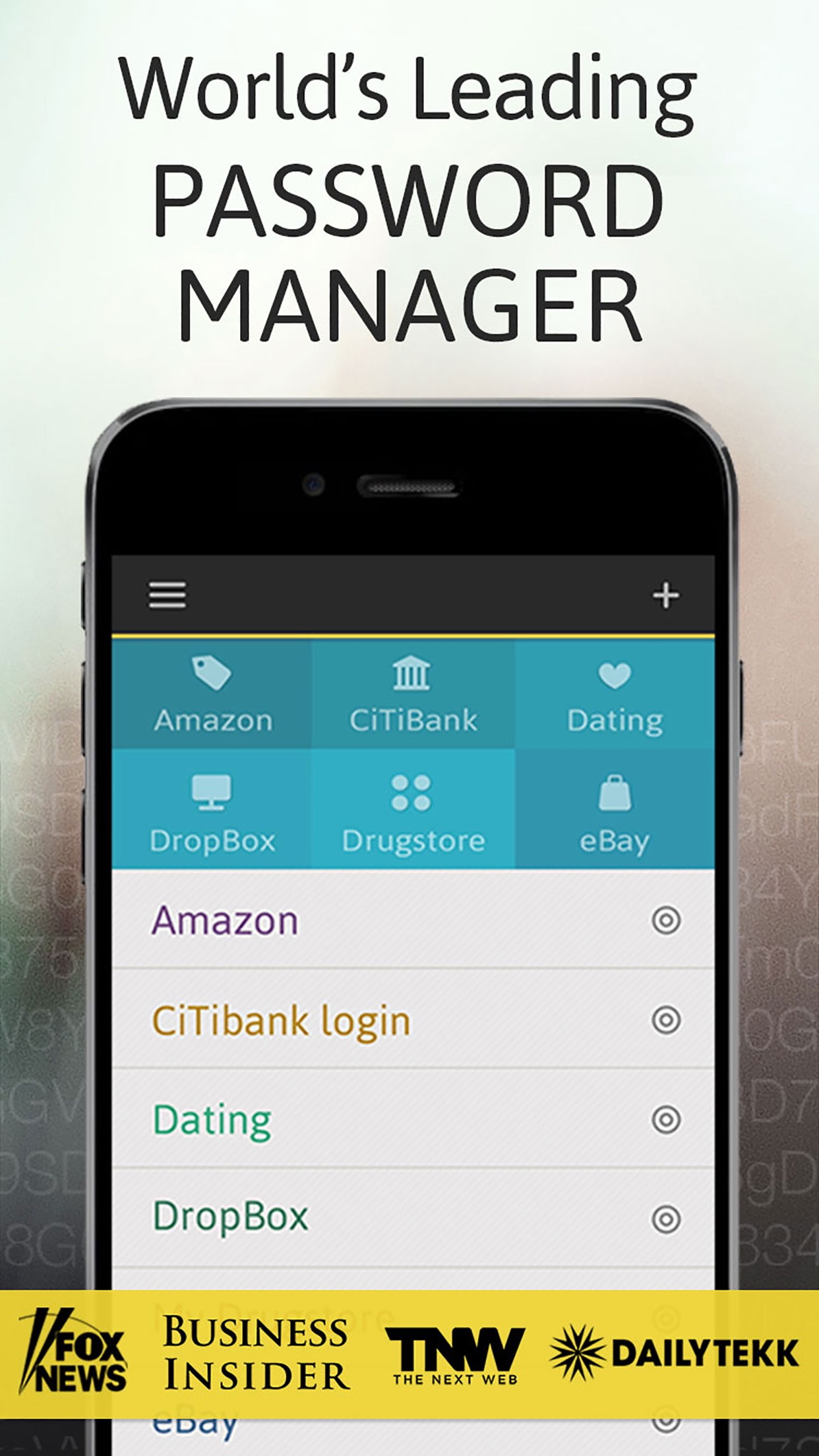 Password Manager: Passible Screenshot