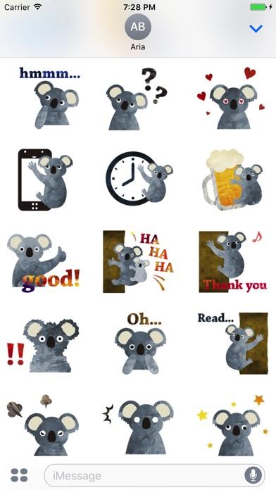 Adorable Koala Emoji Sticker screenshot 2