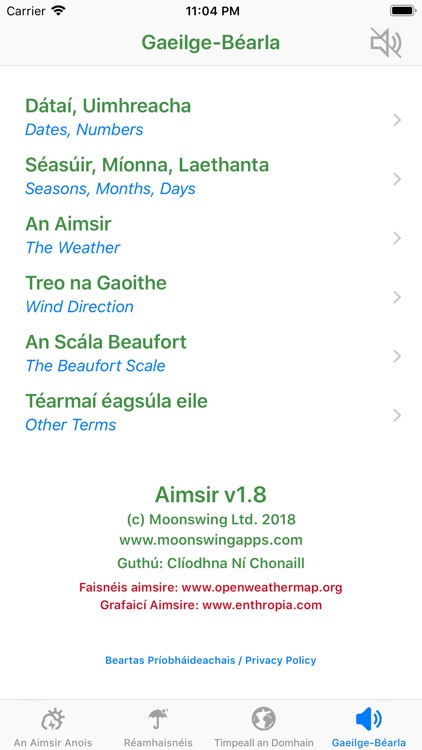 Aimsir - The Weather in Irish screenshot-5