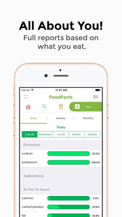 FoodFacts-Allergy, Weight Loss screenshot-3