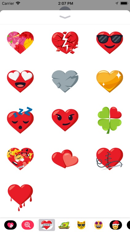 Heart Pack by EmojiOne screenshot-3