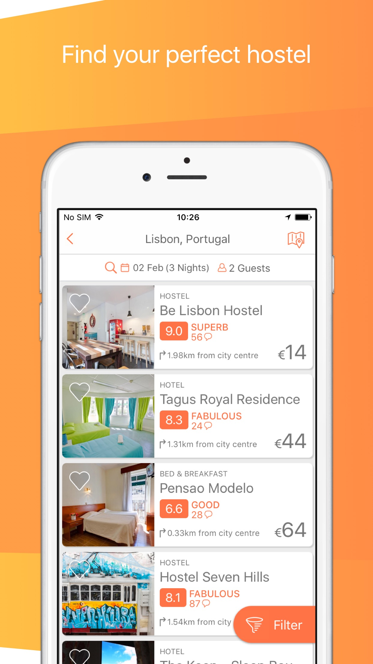 Hostelworld: Hostels & Hotels Screenshot