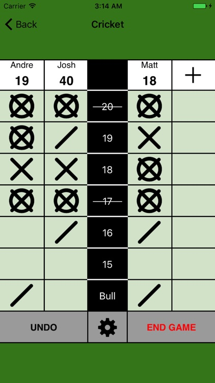 Simple Darts Scoreboard