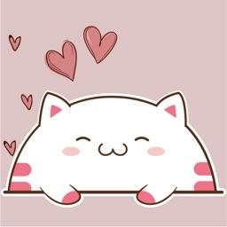 Cute Chubby Kitten Stickers