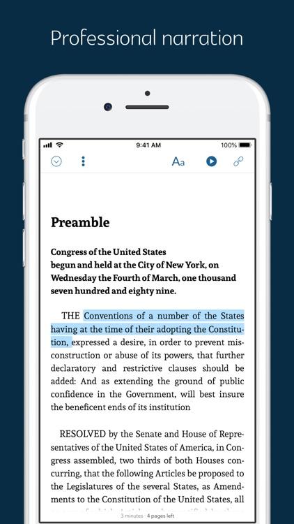 US Historical Documents -audio