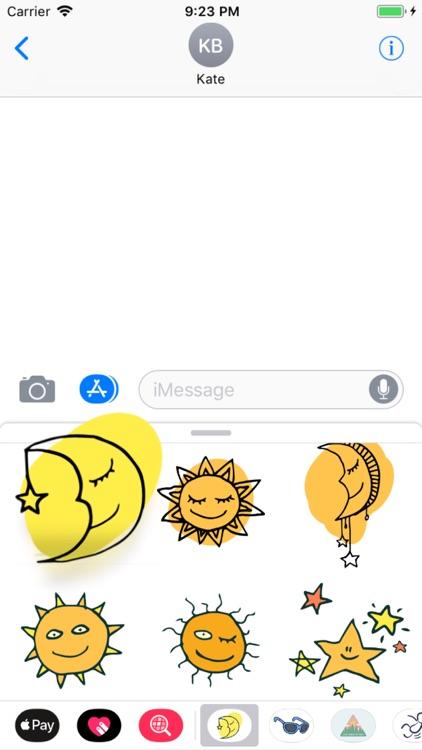 Sun, Moon & Stars Stickers