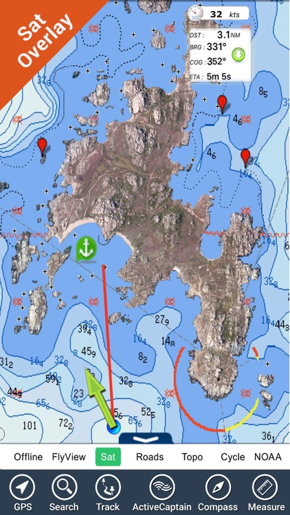 Corsica Nautical Charts GPS HD screenshot-0