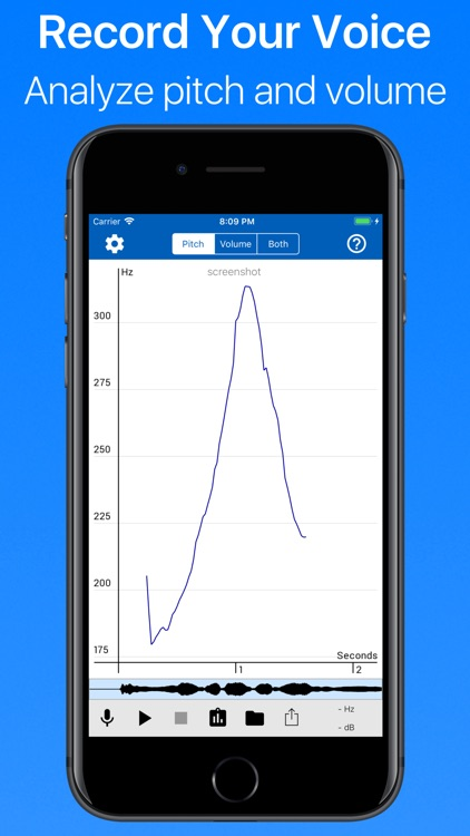 Voice Analyst: pitch & volume screenshot-0
